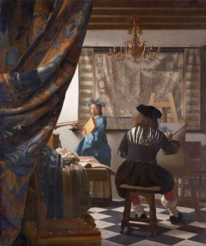Jan Vermeer: A festőművészet (1673)