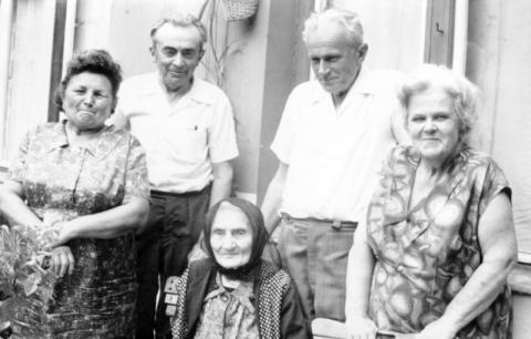 Nagy Bálint nagyanyja a 80. születésnapján