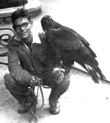 Czájlik Péter az állatkerti szakkörön, a madárosztályon