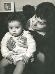 Czeglédy Ilona fiával, Szűcs Tamással