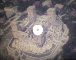 A felújított diósgyőri vár. Részlet Gulyás Gyula filmjéből
