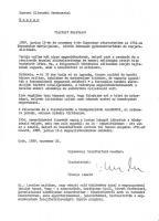 Tihanyi László levele a soproni EKA-hoz