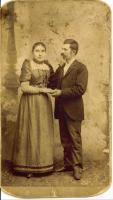 Hegedűs Györgyi anyai nagyszülői, a Meer házaspár, esküvőjükön