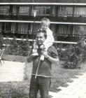 Faragó Vilmos Panna lányával
